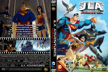 JLA ADVENTURES TRAPPED IN TIME DVD COVER 2014 PBETADOS