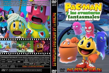 PACMAN AND THE GHOSTLY ADVENTURES - PACK IS BACK - DVD COVER 2013