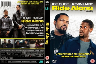RIDE ALONG DVD COVER 2014 ESPAÑOL PBETADOS
