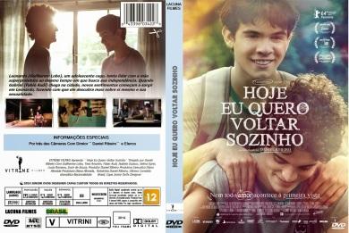 CAPA DO FILME HOJE EU QUERO VOLTAR SOZINHO - JUNIOR DVDS DESIGNER