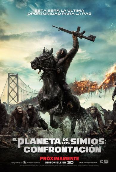 El_Planeta_De_Los_Simios_Confrontación_Nuevo_Poster_Latino_JPosters
